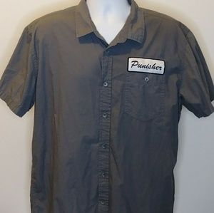 Marvel The Punisher Button-Up Work Shirt